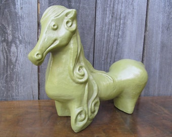 1960's Ceramic Horse Sculpture