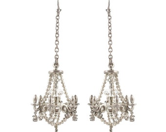Vintage chandelier earrings etsy william griffiths sterling silver chandelier earrings mozeypictures Images