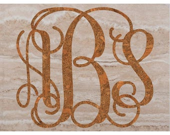 Wood Texture Interlock Monogram Digital Paper