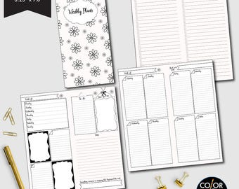 Hobonichi Weekly printable, week on two pages, weekly planner, weekly calendar, weekly agenda printable, CMP-222.5