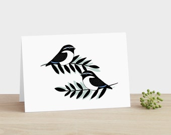 Good Luck Magpie Card Congratulations Exams Card Good Luck New Home Card Lucky Magpie Card New Baby Card Congratulations Graduation Card