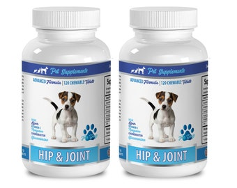 dog joint health - Hip & Joint Support - For Dogs - Chewable - dog chondroitin glucosamine - 2 Bottle (240 Chewable Tablets)