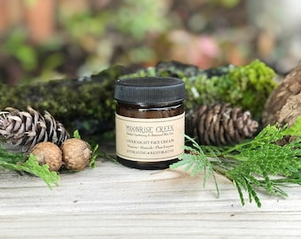 Overnight Face Cream • Vitamins + Minerals + Plant Enzymes • Hydrating, Restorative, Anti Aging, Nutrient Rich Blend • For All Skin Types