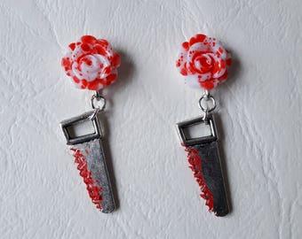 Earrings ♥ Massacre saws ♥