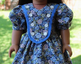 """18"""" Doll Clothes 1940's Style Floral Dress Fits American Girl Nanea, Molly, Emily"""