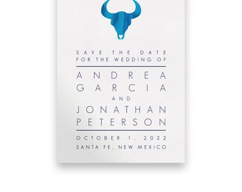 Western Wedding Save the Date/Wedding STD/Wedding Save The Dates/Save-The-Date/Western/Blue/Navy/Modern/Texas/Country/Watercolor