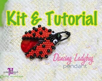 Dancing Ladybug Pendant (RED) - Kit & Tutorial