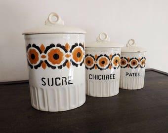 Vintage 50s spice jars