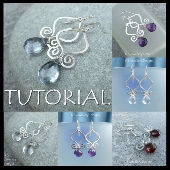 Wire Jewelry Tutorial GENIE DROPS Earrings Step by Step