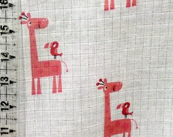 Riley Blake Double Gauze Fabric - Pink Giraffe Swaddle Blanket Fabric - Giraffe Baby Blanket Fabric - Photo Prop Baby Fabric - G586