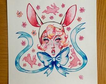 Bunny Hood - Print