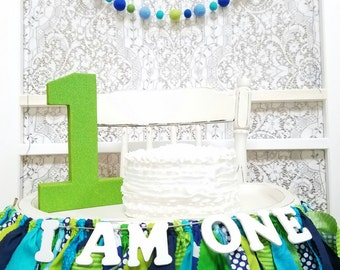 Green Glitter Number 1 - Birthday Party Decor - Monsters Party - Tractor - Bubble Guppies - Big Number for Birthday Party