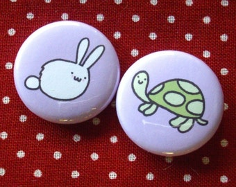 Tortoise and the Hare Badges