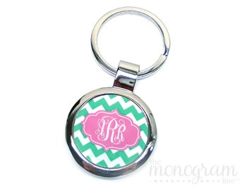 Personalized Personalized Metal Key Ring - Monogram Key Chain - Personalized Gift