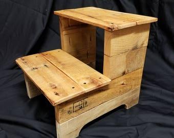 Handmade Reclaimed Wood Step Stool