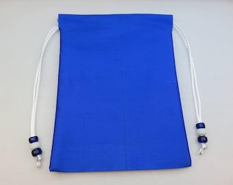 5 x 7 Royal Blue  Pure Silk Tarot Bag for Tarot, Runes, Pendulums, Crystals, Ritual Items