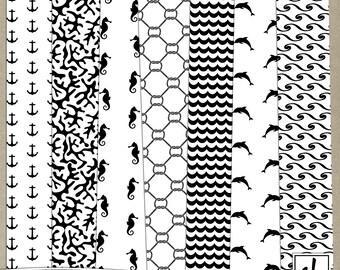 Digital Paper - Pattern Overlays - Digital Patterns - Beach Overlays - Beach Patterns - Summer Paper - Instant Download - CU OK