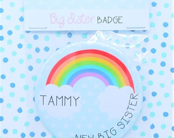 Personalised  New Big Sister Badge
