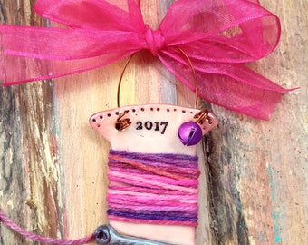 Personalized Keepsake Sewing / Quilting / Seamstress Ornament