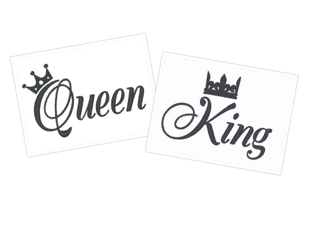 Queen King, him her, Mr and Mrs Vintage Border wedding towel ...