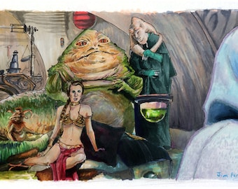 Star Wars- Return of the Jedi - Jabba's Palace Poster Print