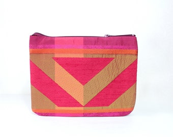 Unique clutch bag Red clutch bag women Evening bag clutch Geometric bag women Spring gift for her Birthday gift for wife