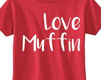 Love Muffin boy's Valentine's Day shirt