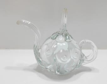 Vintage Glass Calla Lily Teapot (26) Paperweight