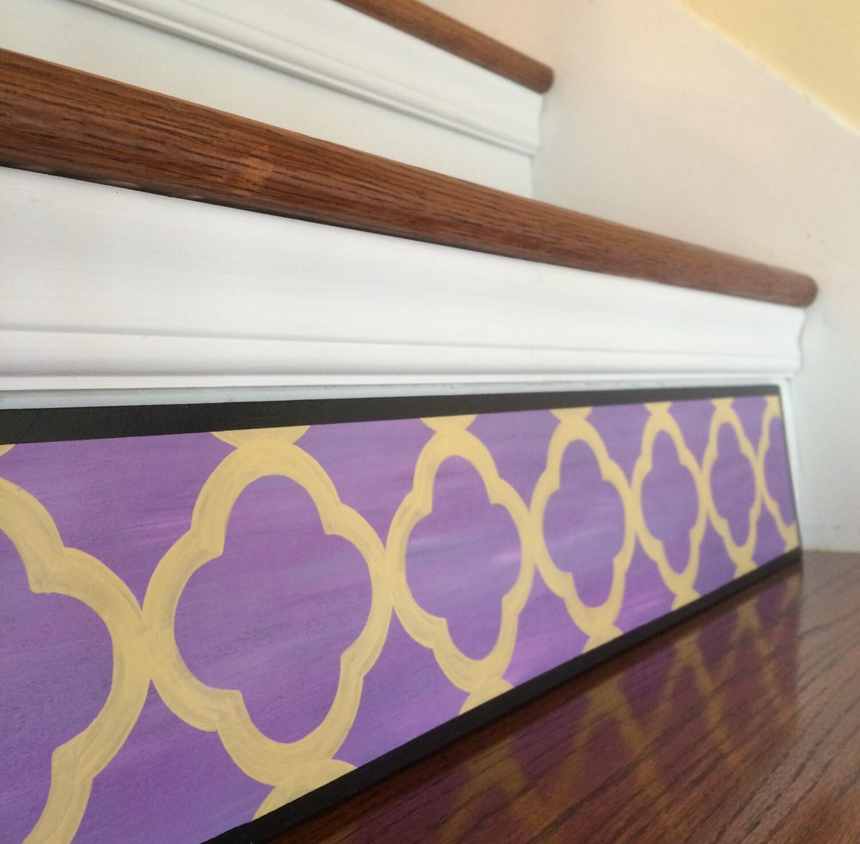 Stair Riser Alternative to Stair Stencils Vinyl Decals and