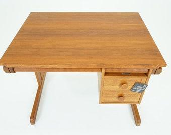 D302 Teak Drafting Table Danish Mid Century Modern
