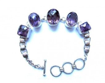 Amethyst Bracelet Sterling Silver
