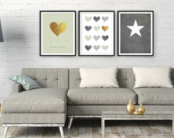 Living Room Wall Art, Home Decor, Sale Giclee Set, Modern Art, Art