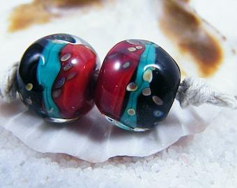 Handmade Lampwork Beads - Earring Pairs ~ Organic Kicking It Southwest #2-Southwest-Boho-Lampies~Gypsy Beads