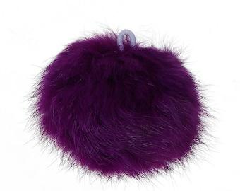 1 x large angora - purple tassel