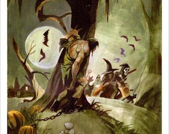 MONSTERNITE Spooky Signed Art Print by Mike Von Hoffman