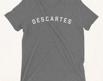 RENE DESCARTES Shirt, Descartes Shirt, Rene Descartes, Descartes, Cartesian, Philosophy T shirt, Philosophy Shirt, Philosophy Tshirt