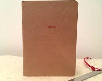 Letterpress Notebook Custom front cover