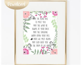 Irish Blessing Printable May The Road Rise To Meet You INSTANT DOWNLOAD