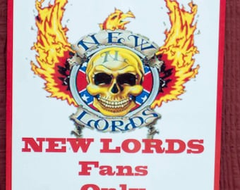 "8"" X 12"" NEW LORDS RESERVED parking sign"