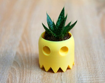 3D Pacman Planter / Home Decor / Container/ Best Gift/ Valentine's Day/ Father's Day/ Wedding