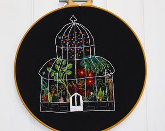 The Palm House Embroidery Pattern (Printed)