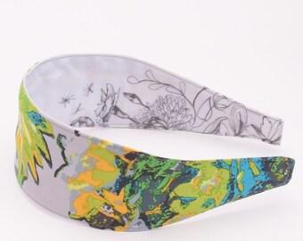 REVERSIBLE Mod Corsage Field Memory Comfort Fit Fabric Headband