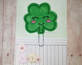 Clover Planner Clip   Paperclip Bookmark    Bookmark    Paperclip   Planner Bookmark   Paperclip Bookmark   Planner Clips