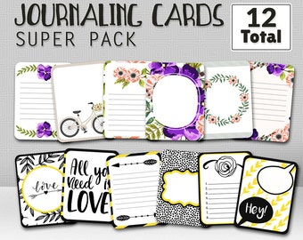 Journaling Cards, Project life cards, Scrapbooking, digital scrapbooking, printable journaling cards, printable scrapbooking journal