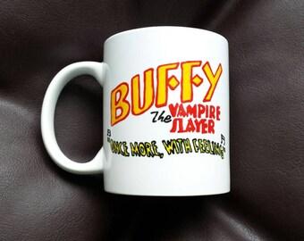 Hand Painted mug inspired by Buffy the Vampire Slayer