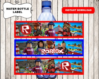 Roblox water labels instant download , Printable Roblox water bottle labels, Roblox wrappers