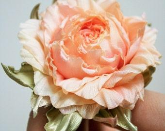 Silk Flower rose corsage flower, rose hair clip, silk flower brooch, Birthday gift for her, floral broach, flower clip, flower accessories