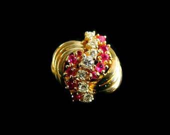 DIAMOND~RUBY RING - 7036B3926