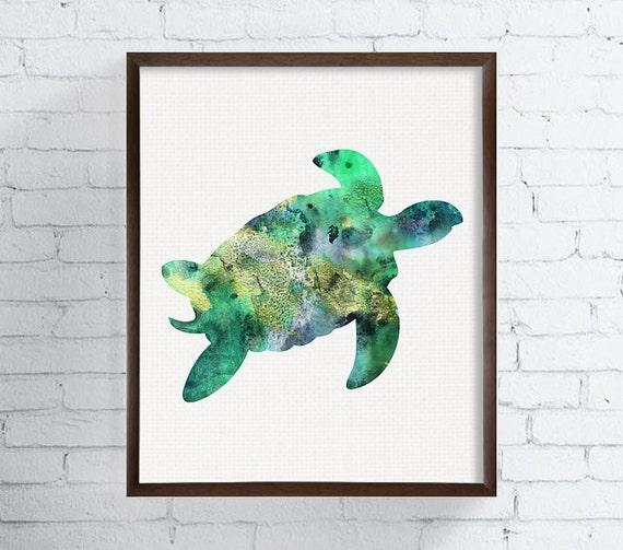 Wonderful Sea Turtle Wall Art, Sea Turtle Painting, Sea Turtle Wall Decor, Sea Turtle  Print, Watercolor Sea Turtle, Coastal Wall Art, Beach Art Print