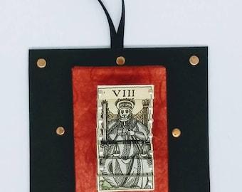 Mini Vintage Italian Tarot Pin Sculpture